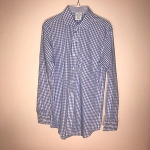 Brooks brothers blue non-iron  long sleeve shirt